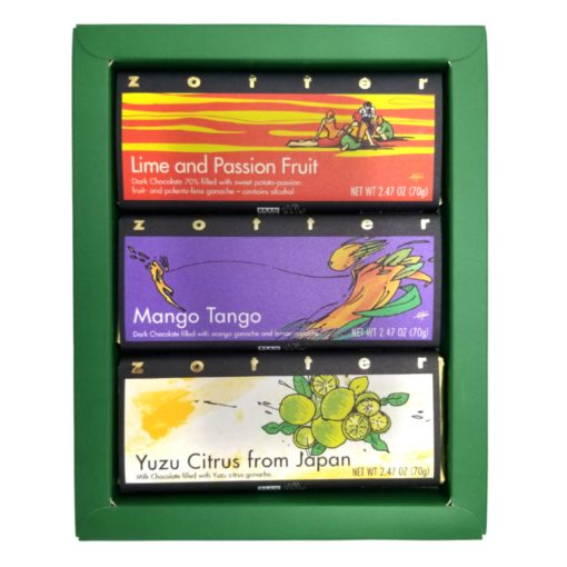 """Set  """"Tropical and Citrus"""" in green gift box"""