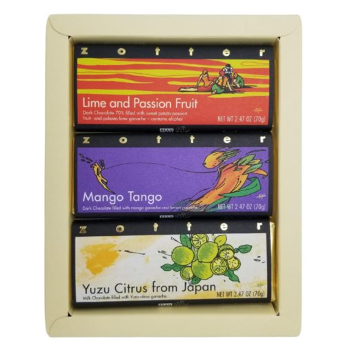 """Set  """"Tropical and Citrus"""" in cream-white gift box"""