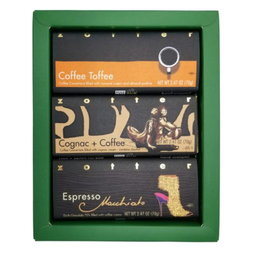 """Set  """"Coffee Variation"""" in green gift box"""