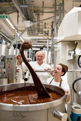 The Zotter chocolate is ready. It is the basic for various different products!